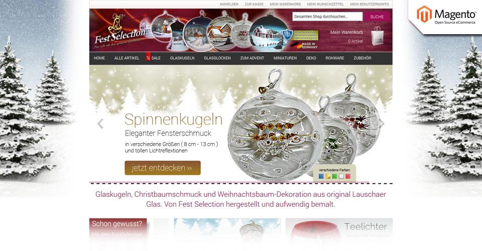 Webdesign mit Magento - Fest Selection