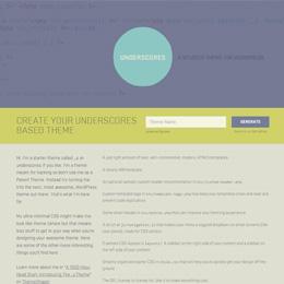 Screenshot der Website von Underscores.me