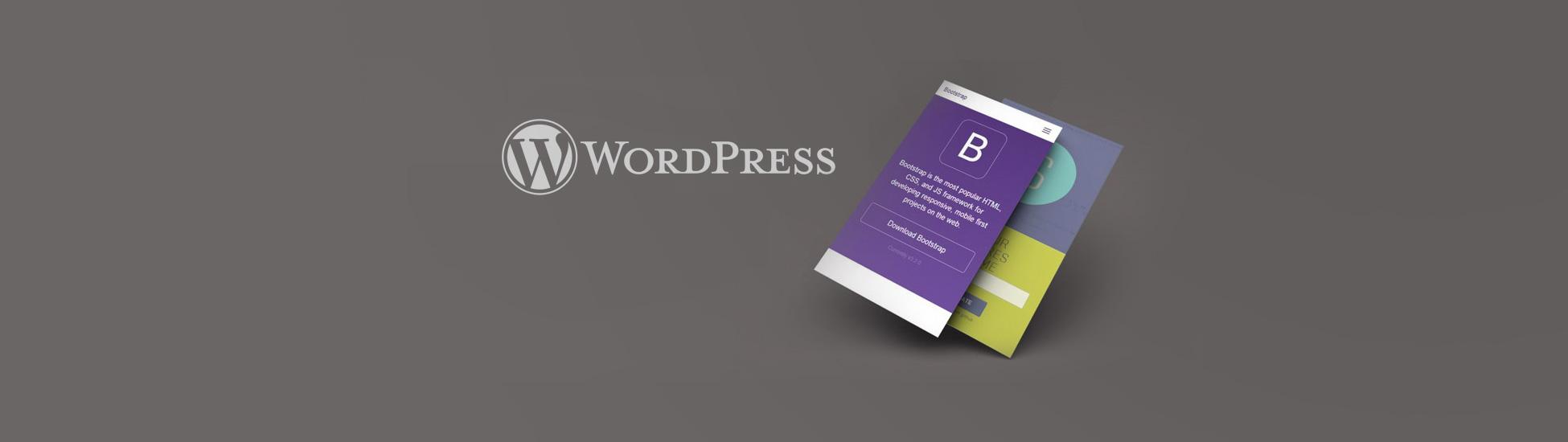 Wordpress mit Bootstrap verbinden - Titelbild