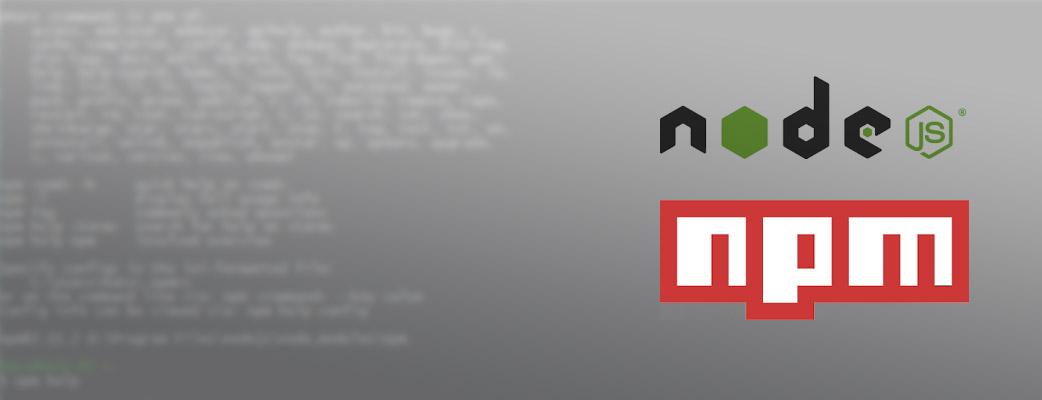 NPM Packages für Windows
