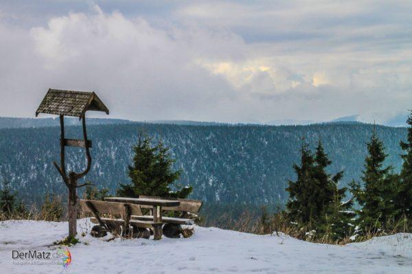 Ausblick von der Schmücke in Oberhof