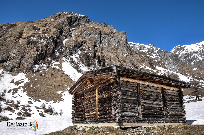 Hütte am Großglockner in Österreich, Osttirol
