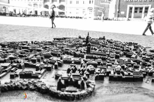 Stralsund Stadtmodell aus Metal
