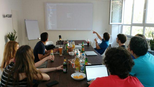 Diskussion beim Magento Stammtisch Stuttgart