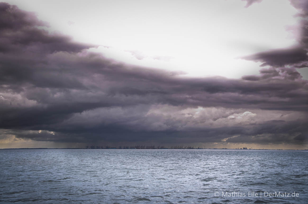 Gewitter über Bremerhaven