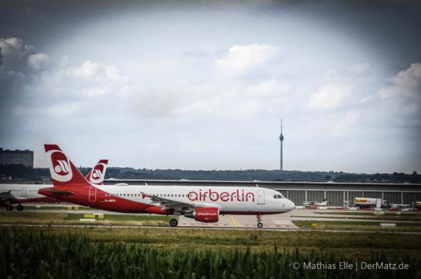 Air Berlin Flugzeug EDDS Stuttgart STR