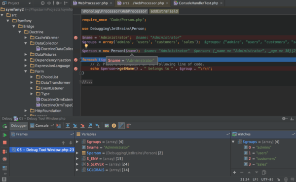 PhpStorm IDE Screenshot